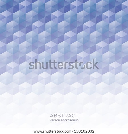 Abstract Blue Isometric Shape Background for Business / Web Design / Print / Presentation - stock vector