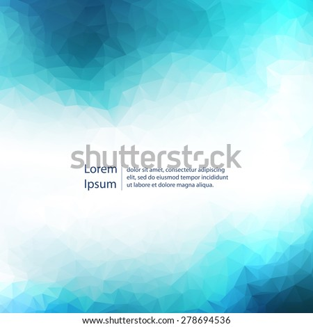 Abstract blue light template background. Eps 10 vector illustration.  - stock vector