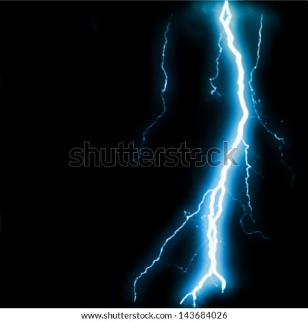 Abstract blue lightning flash background. Vector - stock vector