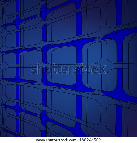 Abstract blue,lights on blue background,vector illustration.
