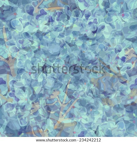 Abstract blue lilac stained paint seamless background. Vector - stock vector