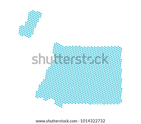 Abstract Blue Map Equatorial Guinea Dots Stock Vector 1014322732 ...