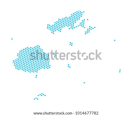 Abstract blue map fiji dots planet stock vector 1014677782 abstract blue map of fiji dots planet lines global world map halftone concept gumiabroncs Gallery