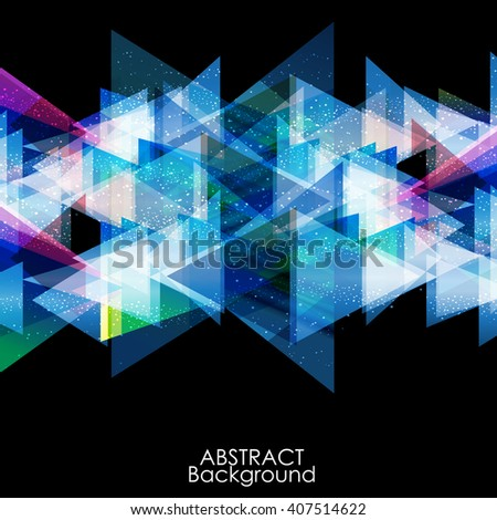 Abstract blue modern triangle digital - Vector Background.