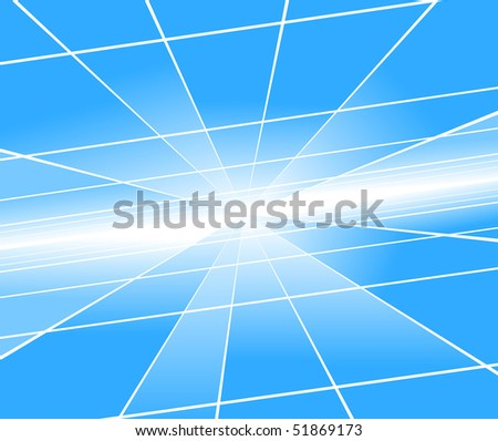 Abstract blue perspective background. Vector illustration - stock vector