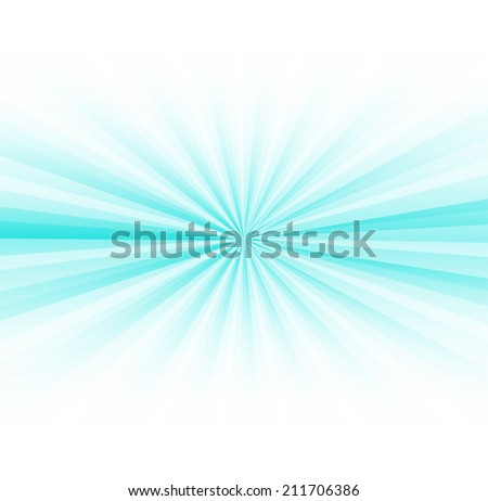 Abstract blue rays burst on white - stock vector