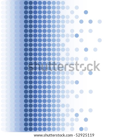 abstract blue round pixel mosaic background - stock vector