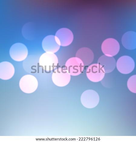 abstract blue shiny bokeh lights - stock vector