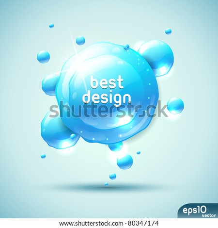 Abstract blue speech bubble (fresh colorful banner) - stock vector