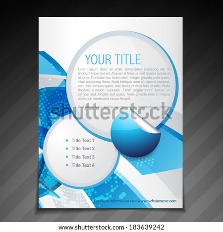 abstract blue style flyer poster template design