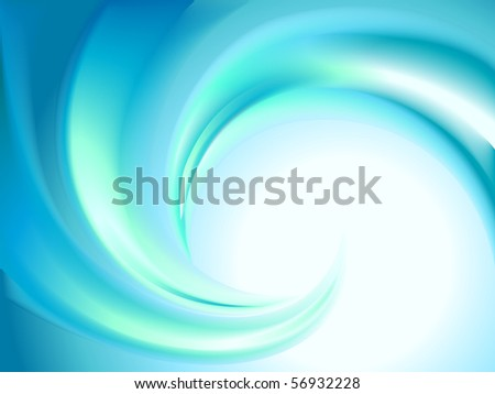 Abstract blue swirl - stock vector