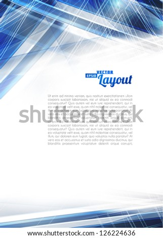 Abstract blue techno background. Vector - stock vector