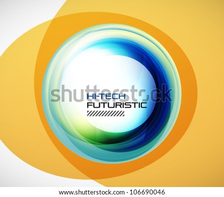 Abstract blue techno swirl background - stock vector