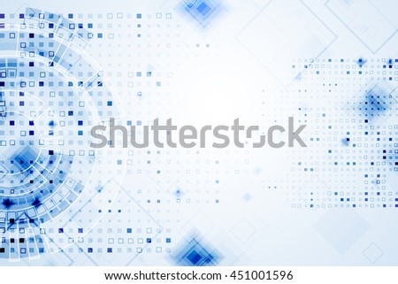 Abstract blue technological background. Structure square pattern backdrop. Vector - stock vector
