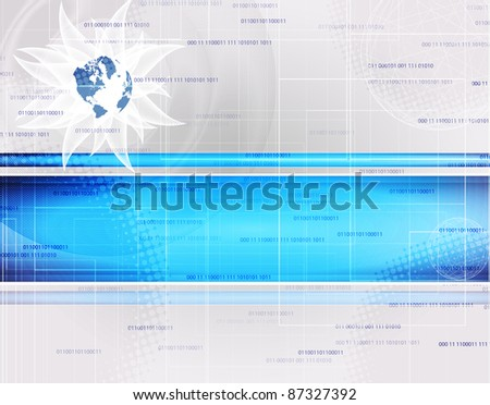 abstract blue technology background with place for text - stock vector