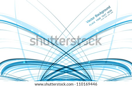 abstract blue technology stylish line colorful wave vector design - stock vector
