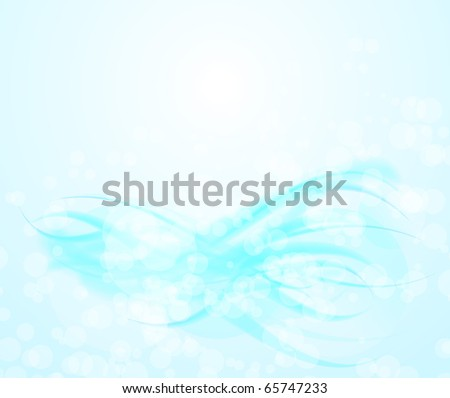 Abstract blue transparent background. Vector illustration