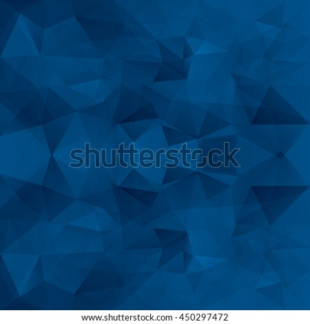 Abstract blue triangles vector background. - stock vector
