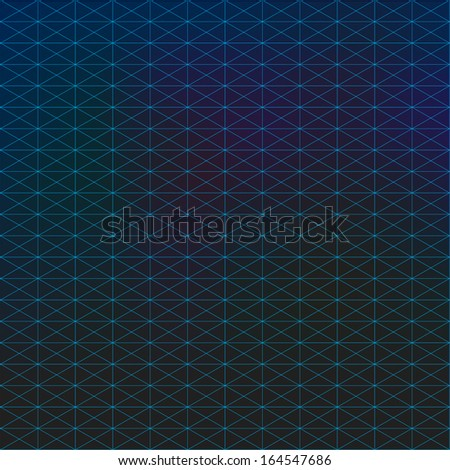 Abstract blue triangles wire pattern texture background design  Eps 10 vector illustration  - stock vector