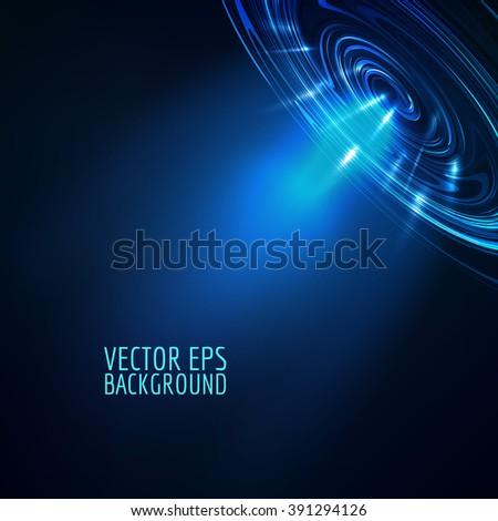 Abstract blue vector background. Blue shine light glow. - stock vector