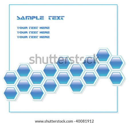 Abstract blue vector with editable text - stock vector