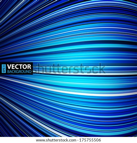 Abstract blue warped stripes colorful background. RGB EPS 10 vector illustration - stock vector
