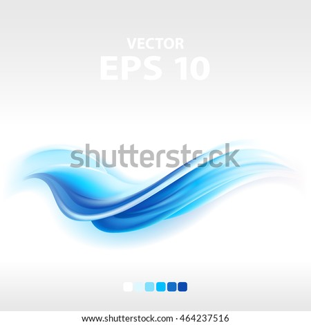 abstract blue wave, vector illustration