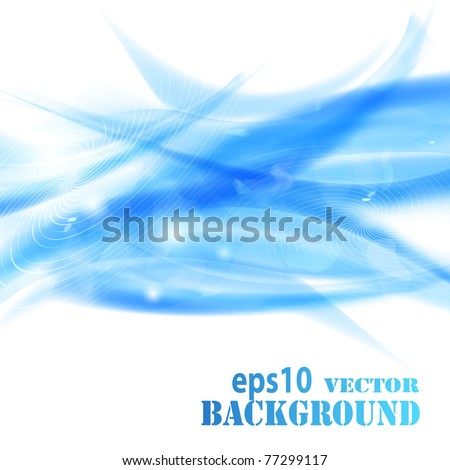 Abstract blue waves background. Vector eps10 illustration - stock vector