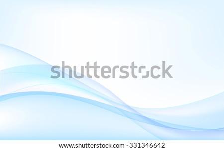 Abstract blue waves - data stream concept. Vector Illustration. Clip-art - stock vector