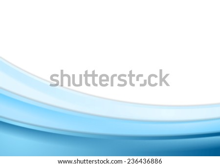Abstract blue wavy background. Vector design
