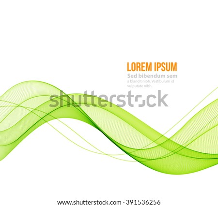 Abstract blue wavy lines. Colorful vector background.