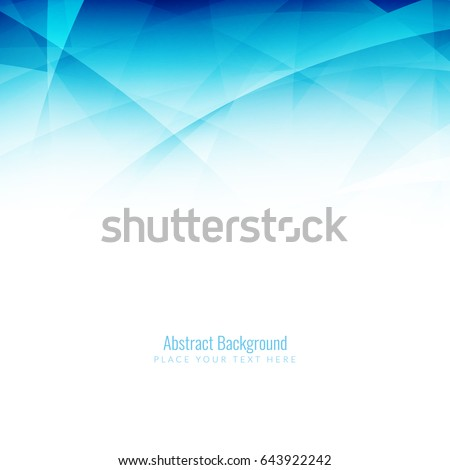 Abstract blue wavy modern background