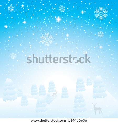Abstract blue white winter background - stock vector