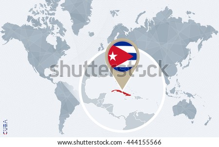 Cuba map flag circle map cuba stock vector 374624278 shutterstock abstract blue world map with magnified cuba vector illustration gumiabroncs Image collections