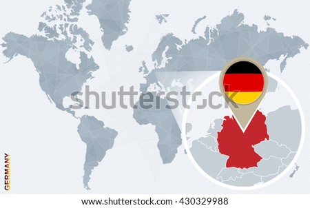 Abstract blue world map magnified germany stock photo photo vector abstract blue world map with magnified germany germany flag and map vector illustration gumiabroncs Images