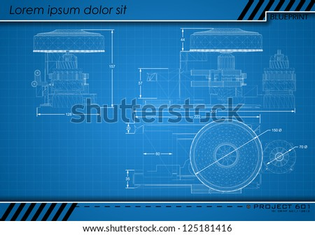 Abstract Blueprint - stock vector