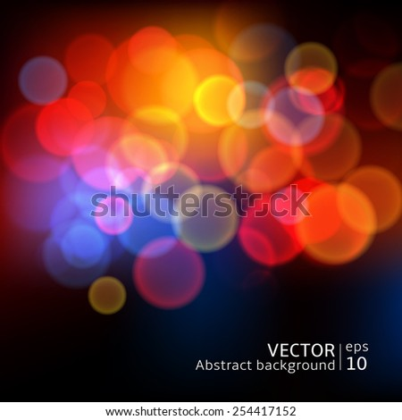 Abstract blur circular bokeh background - stock vector