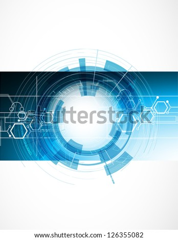 abstract blur strong computer technology business flayer - stock vector