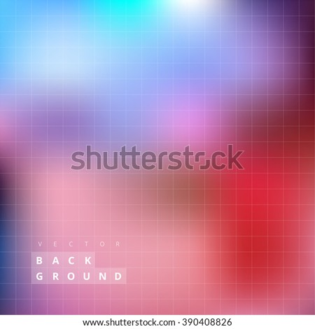 Abstract Blured Colorful Background. Transparency Grid in Smooth Lights. Vector Illustration.
