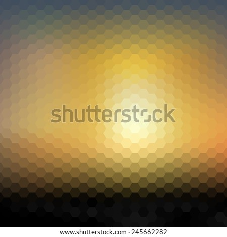 Abstract blurred background, abstract modern hexagonal template vector. - stock vector