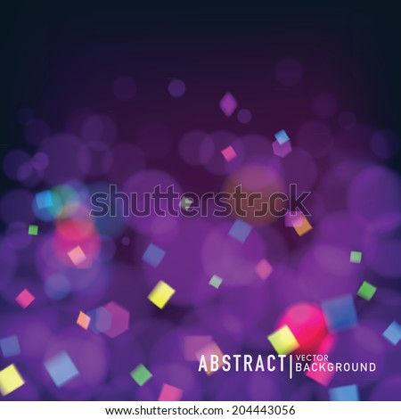 Abstract blurred background with bokeh effect. Wallpaper for celebrate or party invitation  design. Vector - stock vector