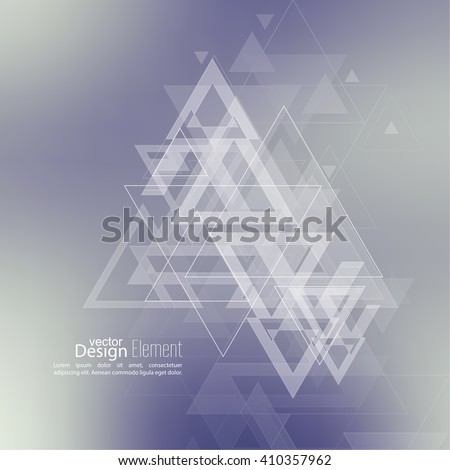 Abstract blurred background with hipster stream flying triangles debris. Pattern. For cover book, brochure, flyer, poster, layout, template, magazine, t-shirt. Vector design. subtle. - stock vector