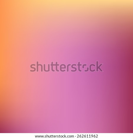 Abstract blurred background with warm colors pink and yellow - stock vector