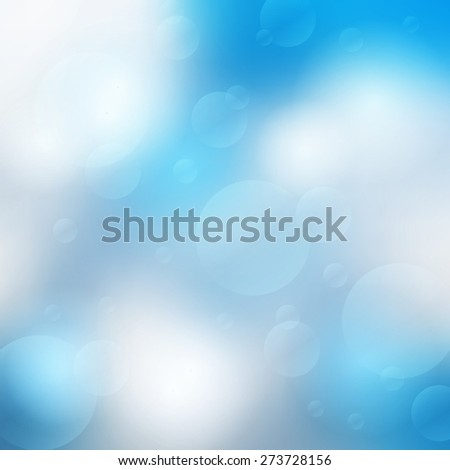 Abstract blurred bokeh effect background. Vector illustration - stock vector