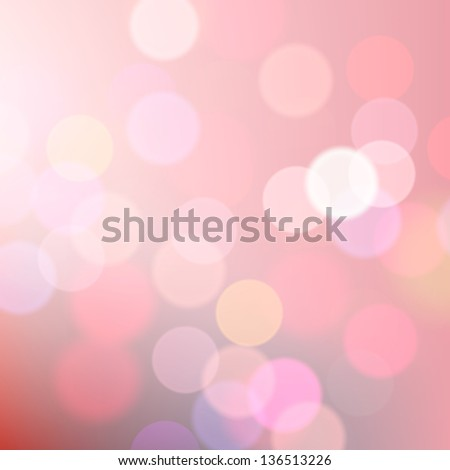 Abstract blurred pink background of holiday lights, vector illustration.