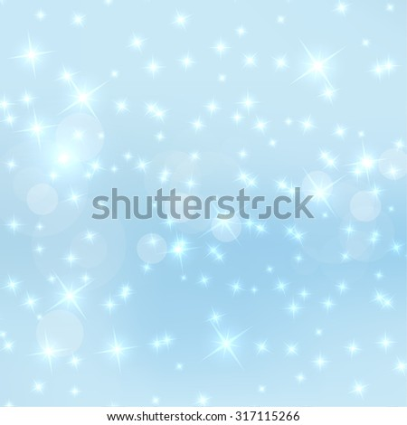 Abstract blurred vector background with sparkle stars. For decorations for Merry Christmas, New Year, anniversaries, festivals, birthday, xmas, glamour holiday, illuminated, celebration. pastel - stock vector