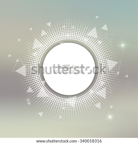 Abstract blurred vector background with sparkle stars with round halftone banner dots, scatter triangles. for Merry Christmas, New Year, anniversaries, festivals, birthday, Xmas. - stock vector