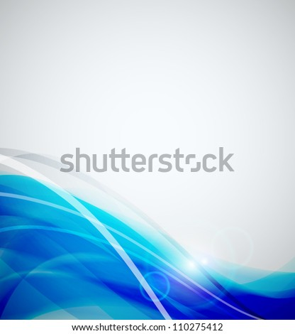 Abstract blurred wave background - stock vector