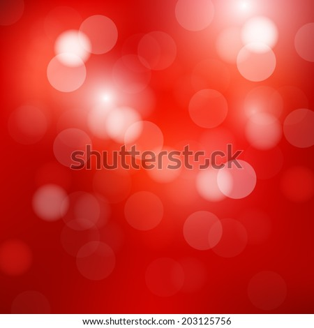 abstract bokeh and lens flare pattern on red background(vector) - stock vector