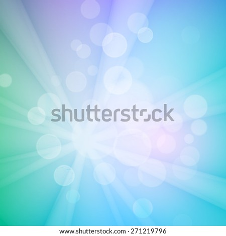 Abstract bokeh sparkles on blue blurred background - stock vector